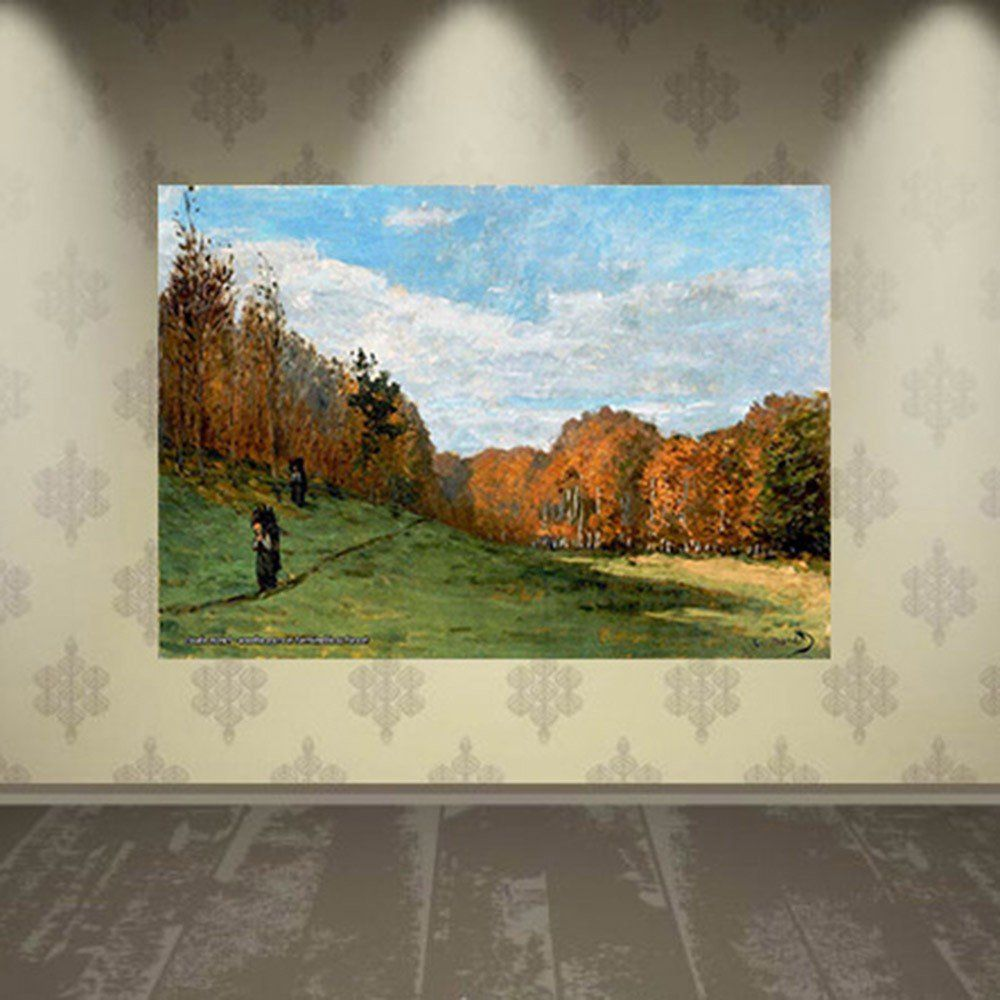 Pôster Decorativo A4 Woodbearers in Fontainebleau Forest - Claude Monet Cosi Dimora