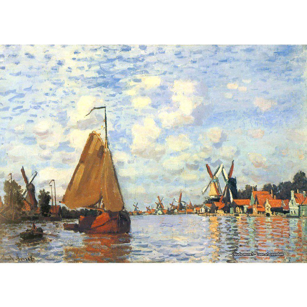 Pôster Decorativo A4 Zaan at Zaandam - Claude Monet Cosi Dimora
