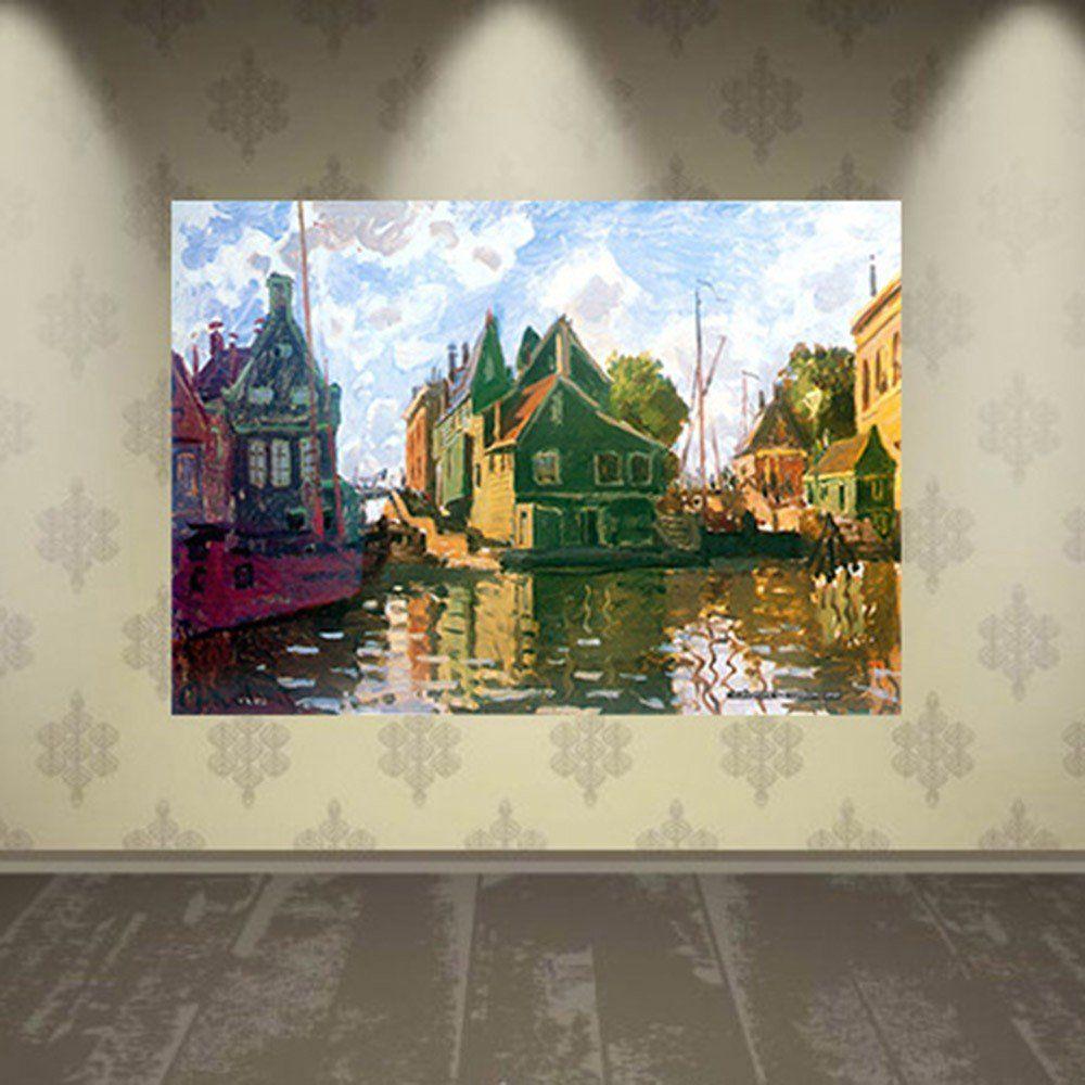 Pôster Decorativo A4 Zaandam Canal - Claude Monet Cosi Dimora