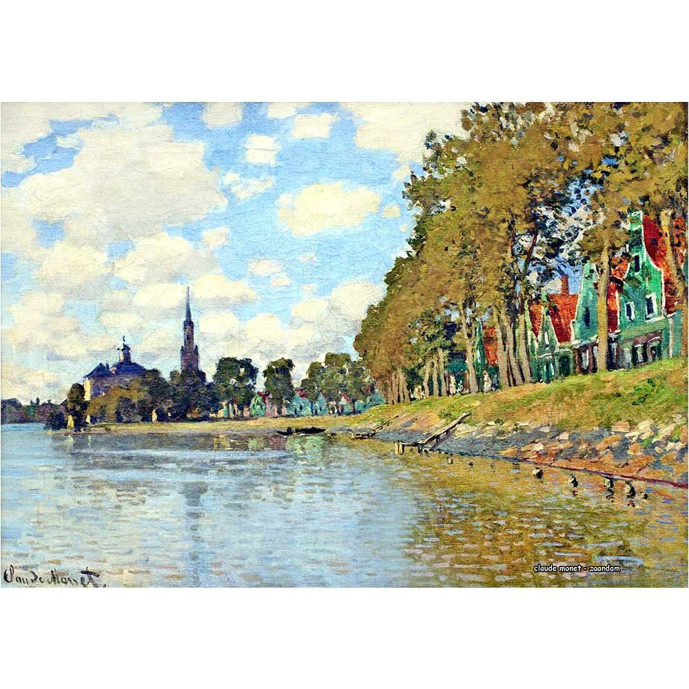 Pôster Decorativo A4 Zaandam - Claude Monet Cosi Dimora