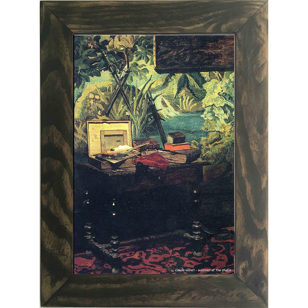 Quadro Decorativo A4 A Corner of the Studio - Claude Monet Cosi Dimora