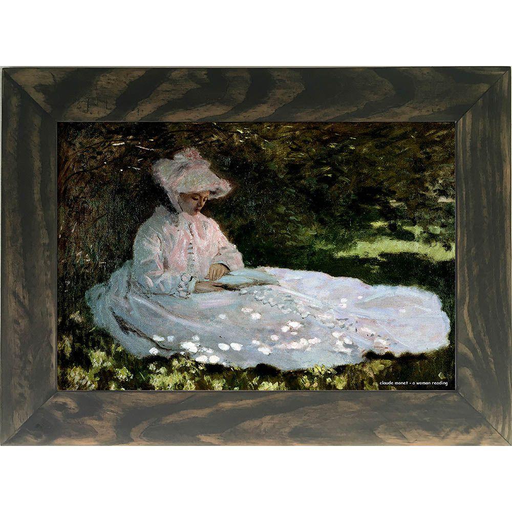 Quadro Decorativo A4 A Woman Reading - Claude Monet Cosi Dimora