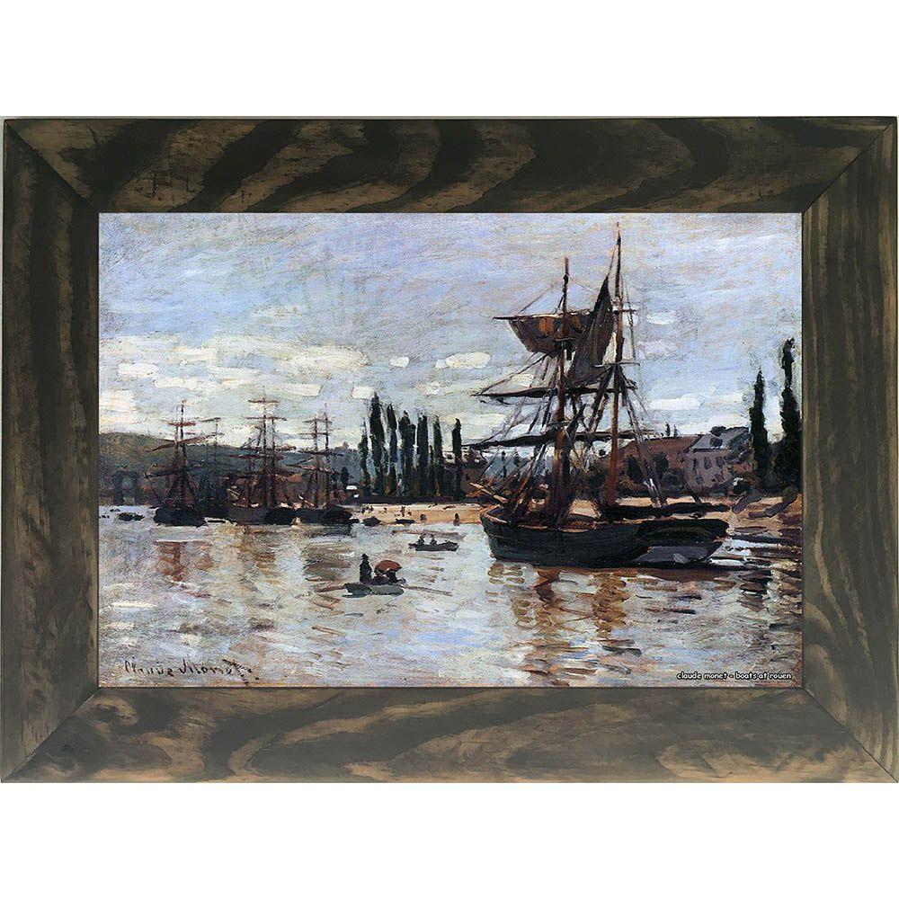 Quadro Decorativo A4 Boats at Rouen - Claude Monet Cosi Dimora