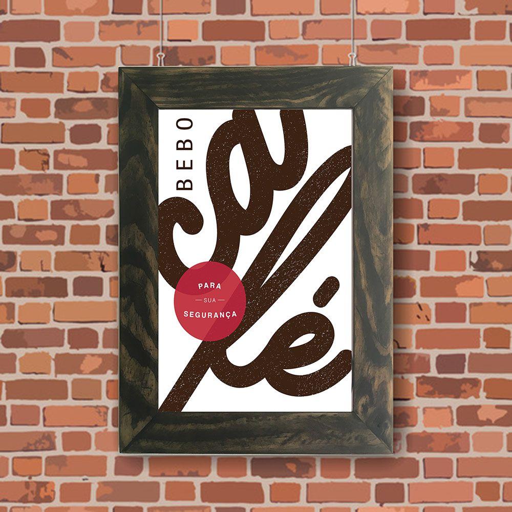 Quadro Decorativo A4 Café Cosi Dimora