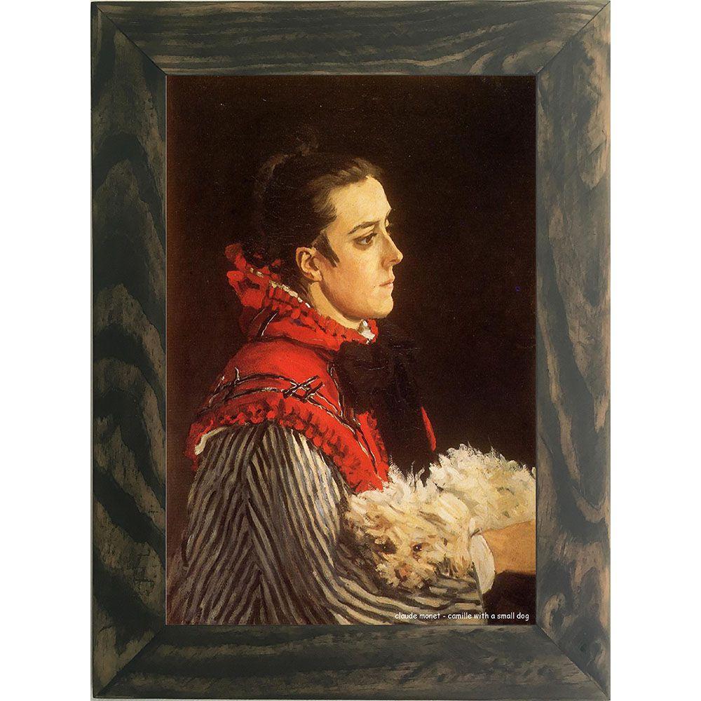 Quadro Decorativo A4 Camille With a Small Dog - Claude Monet Cosi Dimora