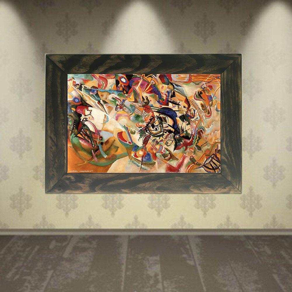 Quadro Decorativo A4 Composition 7 - Kandinsky Cosi Dimora