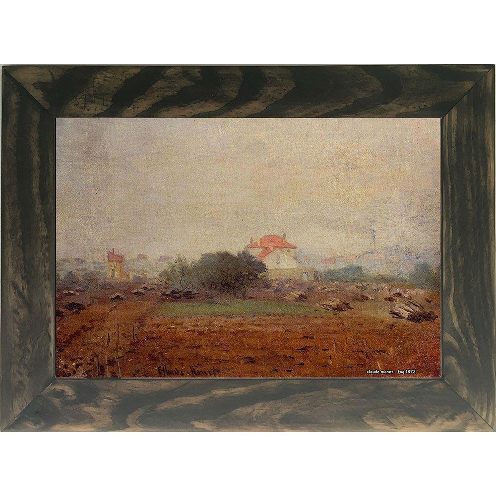 Quadro Decorativo A4 Fog 1872 - Claude Monet - Cosi Dimora