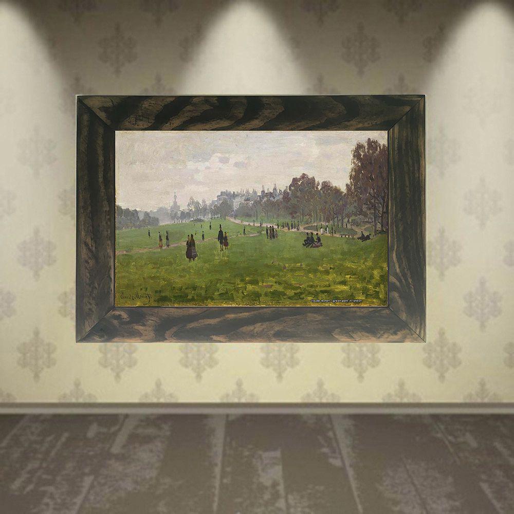 Quadro Decorativo A4 Green Park in London - Claude Monet Cosi Dimora