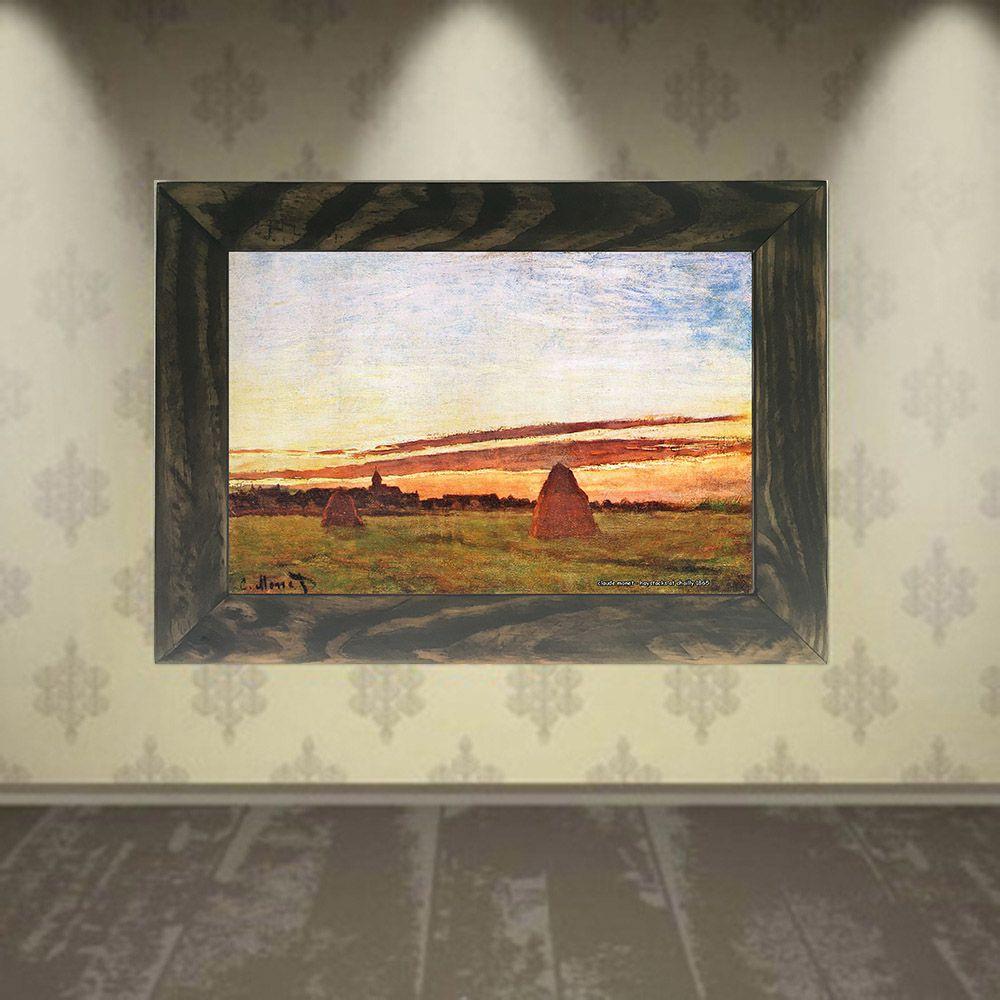 Quadro Decorativo A4 Haystacks at Chailly 1865 - Claude Monet Cosi Dimora