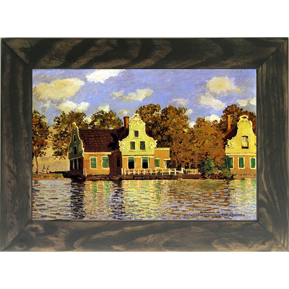 Quadro Decorativo A4 Houses on the Zaan River at Zaandam - Claude Monet Cosi Dimora