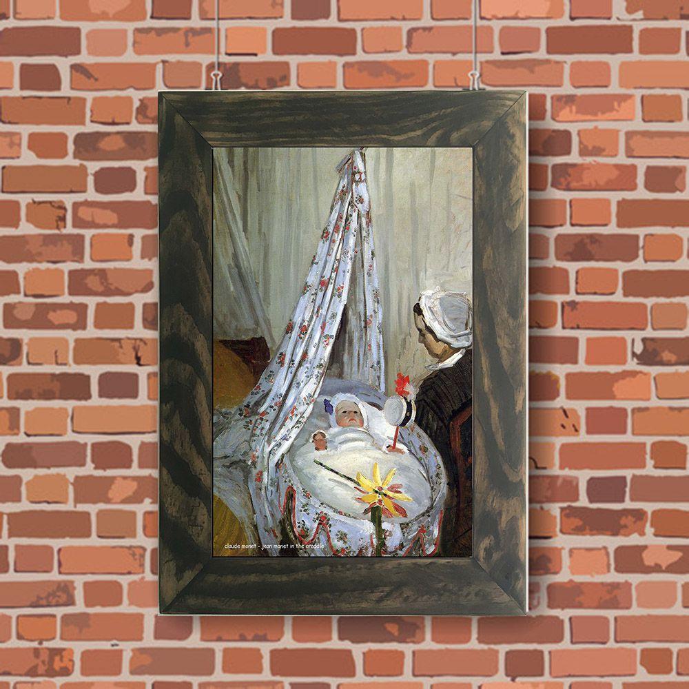Quadro Decorativo A4 Jean Monet in the Craddle - Claude Monet Cosi Dimora