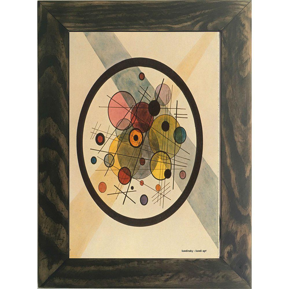 Quadro Decorativo A4 Kandi Opt - Kandinsky Cosi Dimora