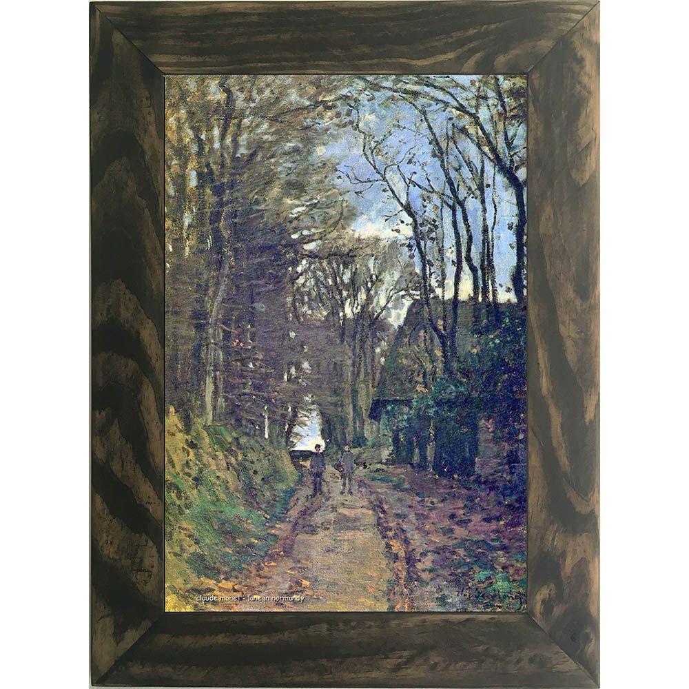 Quadro Decorativo A4 Lane in Normandy - Claude Monet Cosi Dimora
