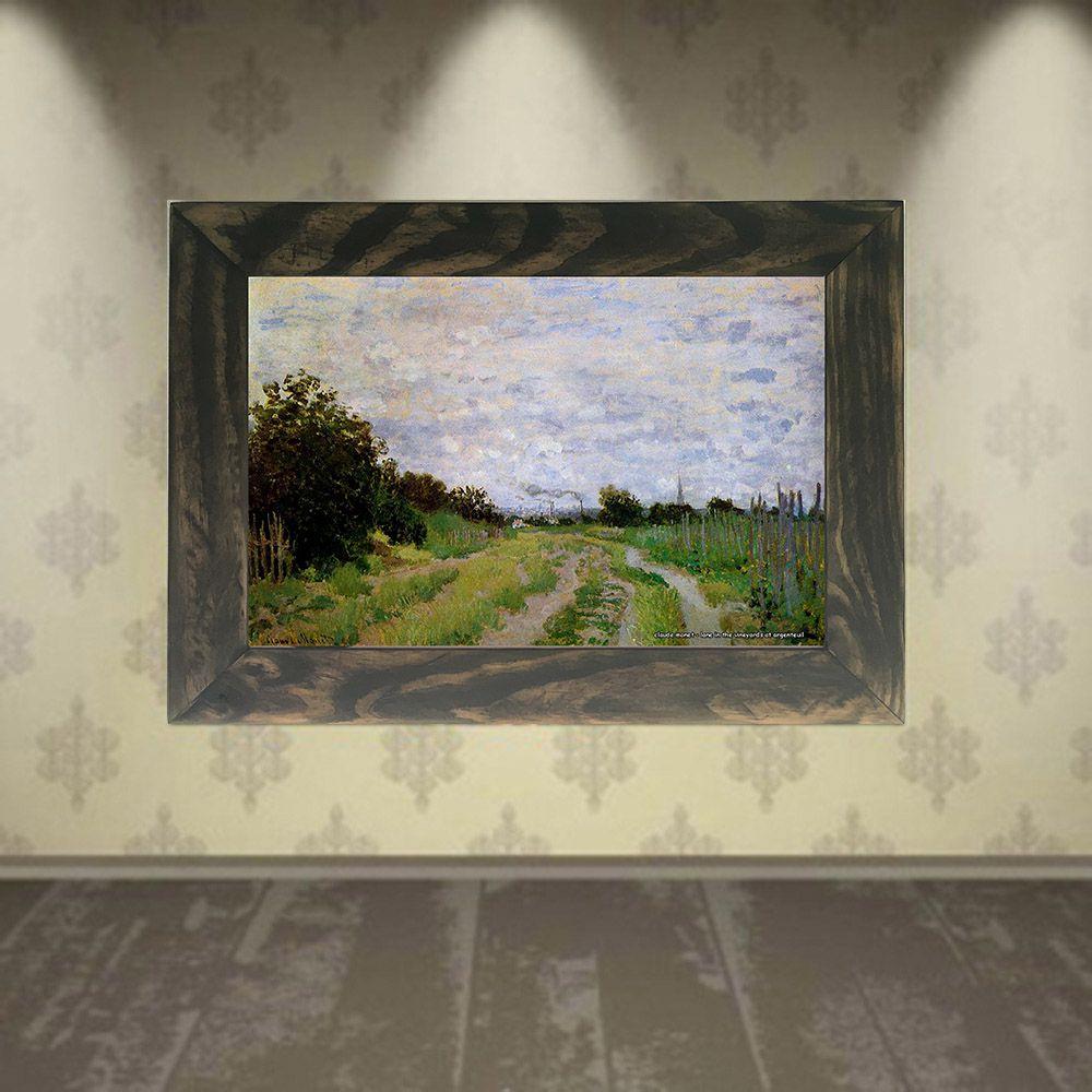 Quadro Decorativo A4 Lane in the Vineyards at Argenteuil - Claude Monet Cosi Dimora