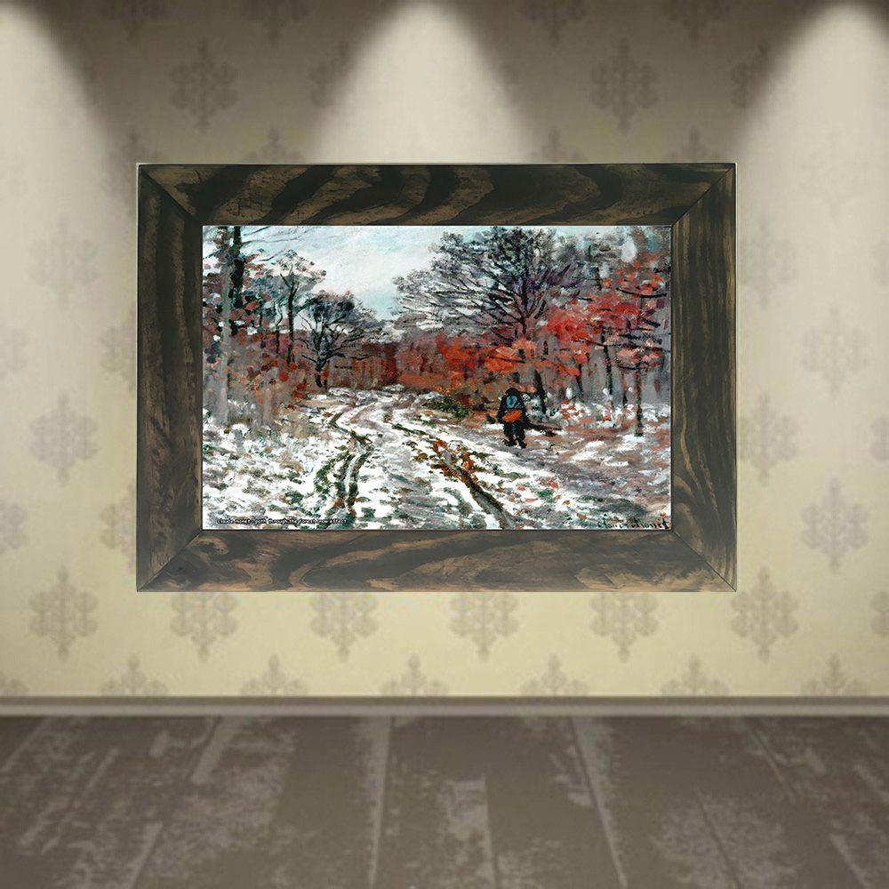 Quadro Decorativo A4 Path Through the Forest Snow Effect - Claude Monet Cosi Dimora