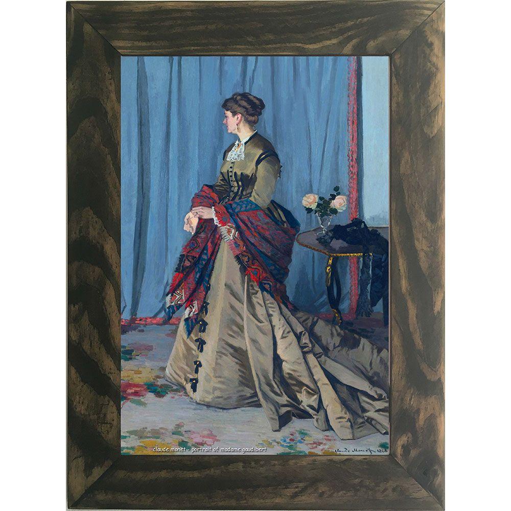 Quadro Decorativo A4 Portrait of Madame Gaudibert - Claude Monet Cosi Dimora