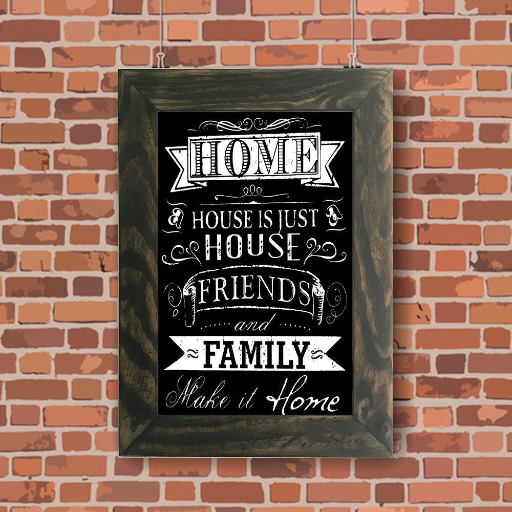 Quadro Decorativo A4 Quadro Negro House x Home Cosi Dimora