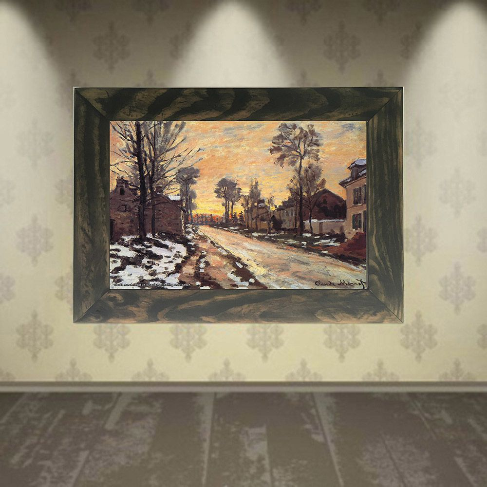 Quadro Decorativo A4 Road at Louveciennes Melting Snow Sunset - Claude Monet Cosi Dimora