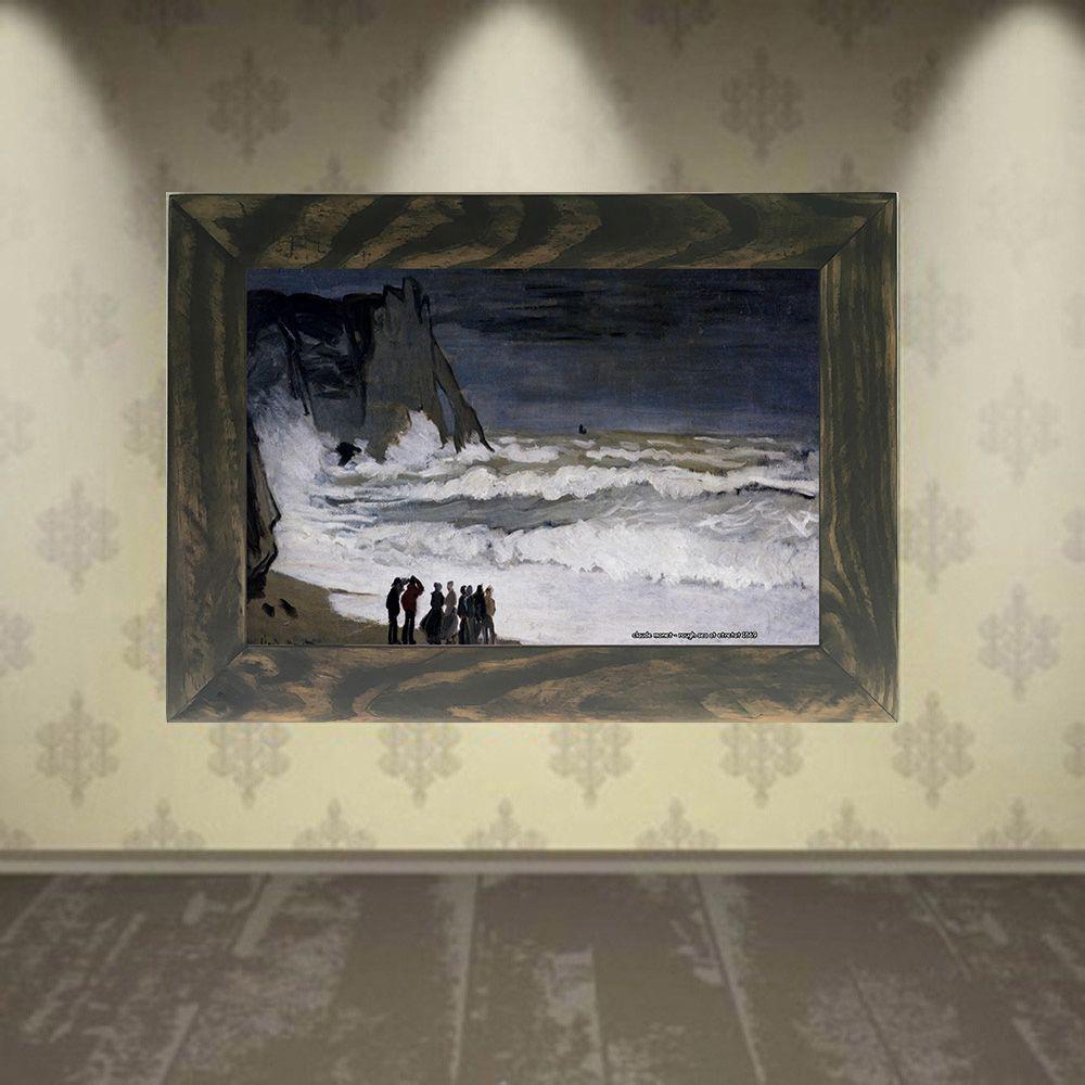 Quadro Decorativo A4 Rough Sea at Etretat 1869 - Claude Monet Cosi Dimora