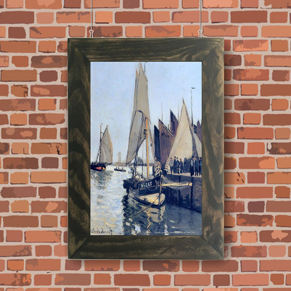 Quadro Decorativo A4 Sailing Boats at Honfleur - Claude Monet Cosi Dimora