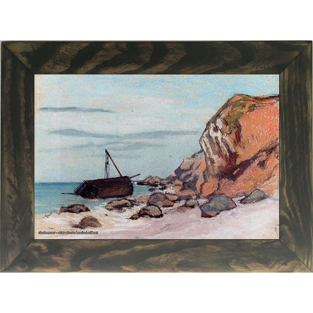 Quadro Decorativo A4 Saint Adresse Beached Sailboat - Claude Monet Cosi Dimora