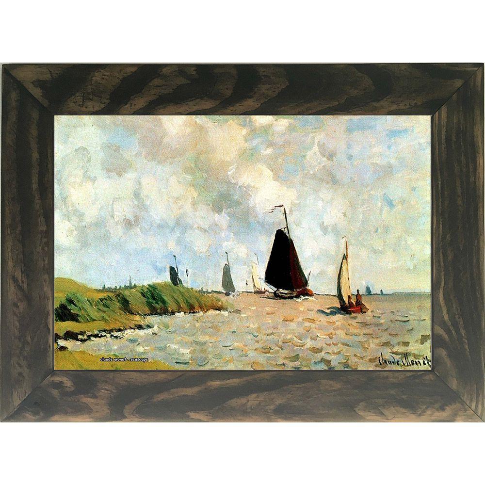 Quadro Decorativo A4 Seascape 1 - Claude Monet Cosi Dimora