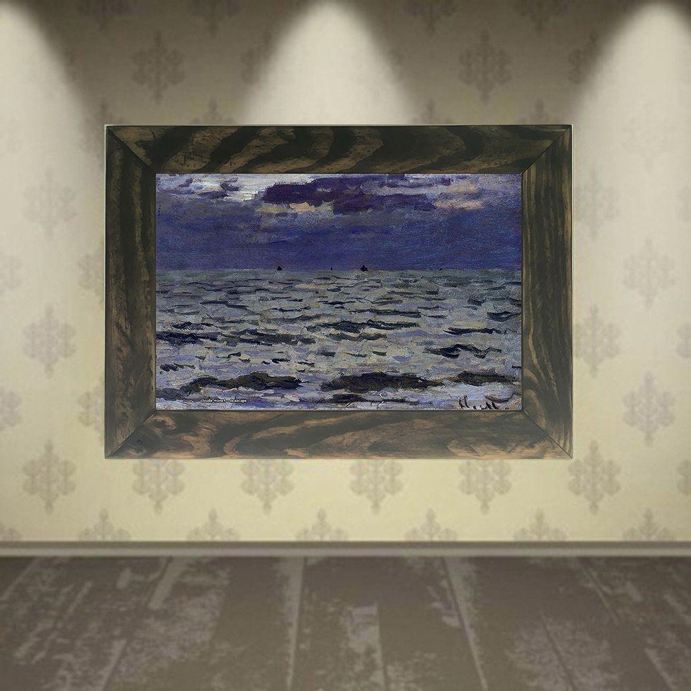 Quadro Decorativo A4 Seascape - Claude Monet Cosi Dimora