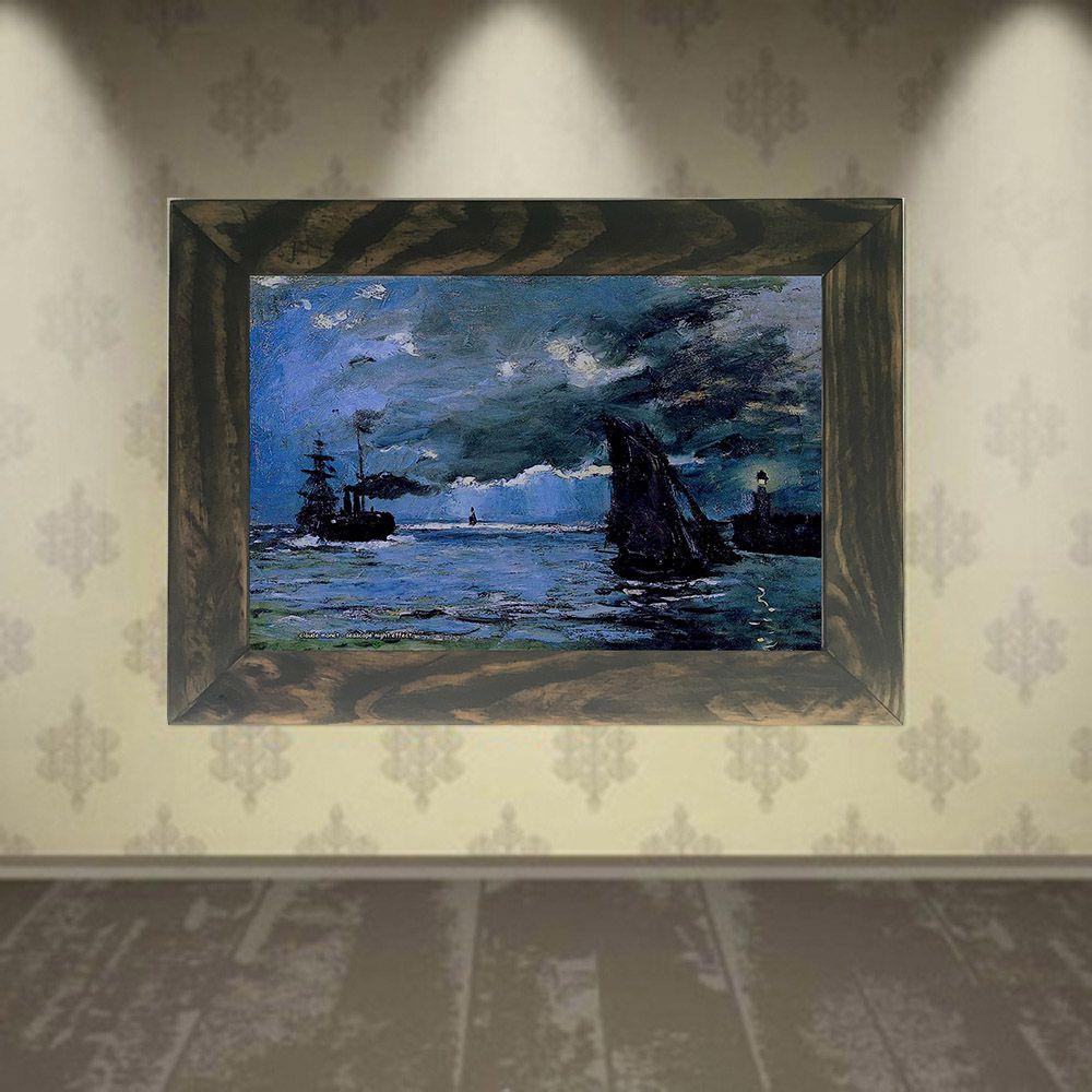 Quadro Decorativo A4 Seascape Night Effect - Claude Monet Cosi Dimora