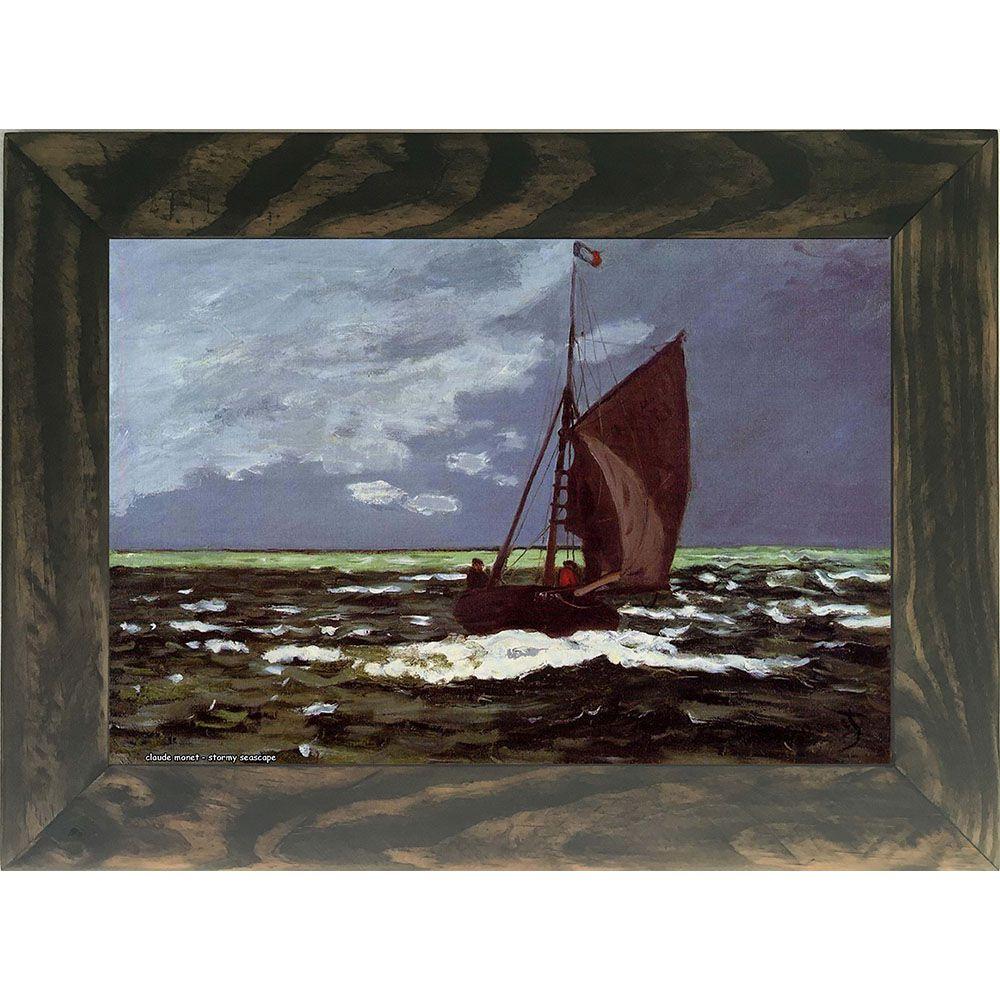 Quadro Decorativo A4 Stormy Seascape - Claude Monet Cosi Dimora
