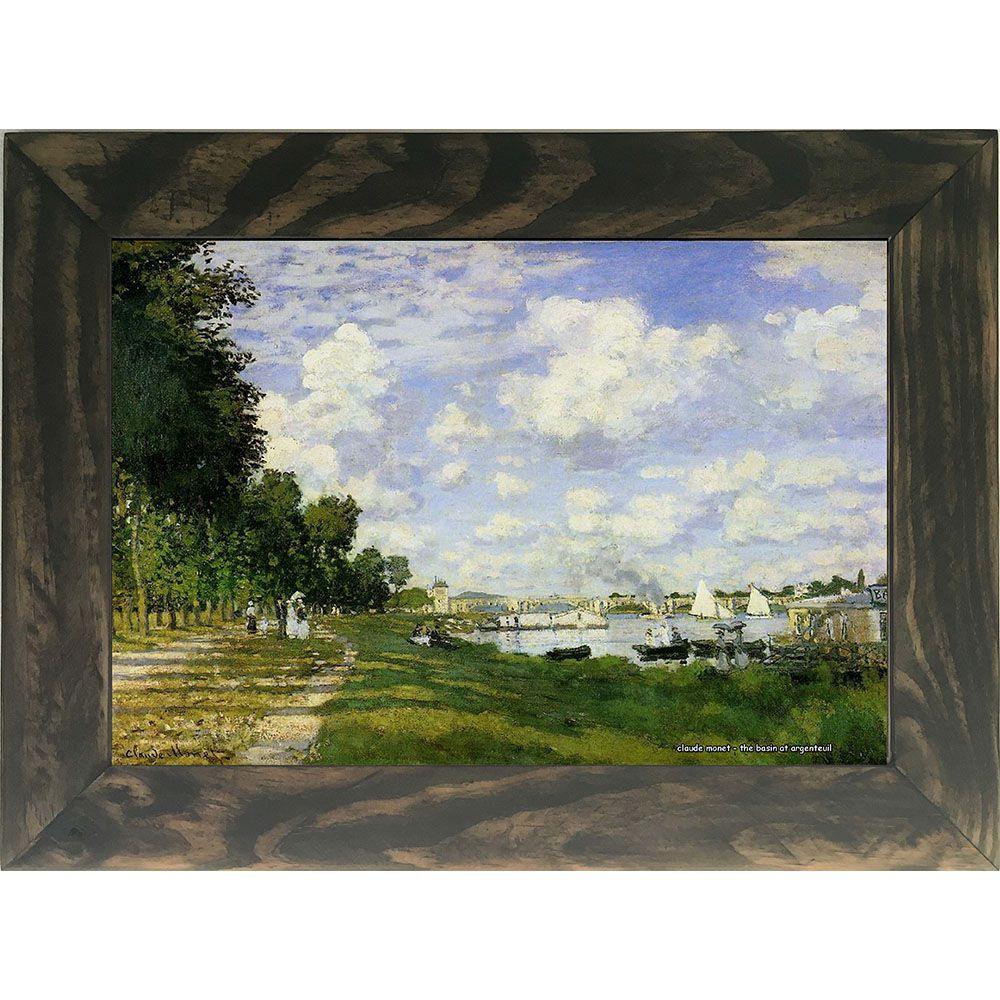 Quadro Decorativo A4 The Basin at Argenteuil - Claude Monet Cosi Dimora