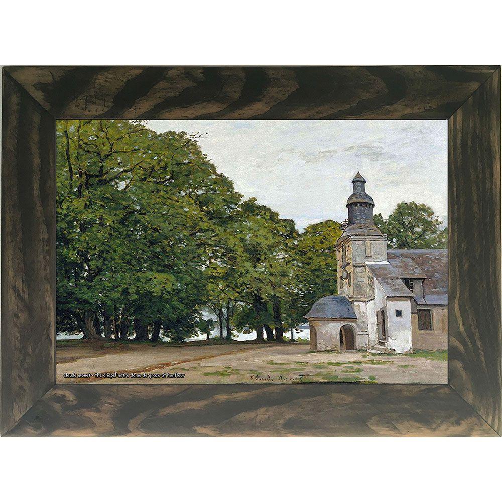 Quadro Decorativo A4 The Chapel Notre Dame de Grace at Honfleur - Claude Monet Cosi Dimora