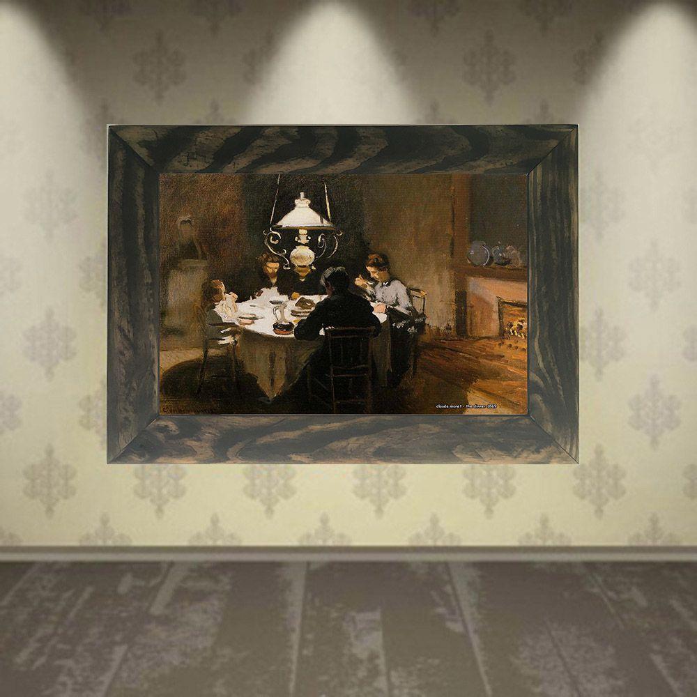Quadro Decorativo A4 The Dinner 1869 1 - Claude Monet Cosi Dimora