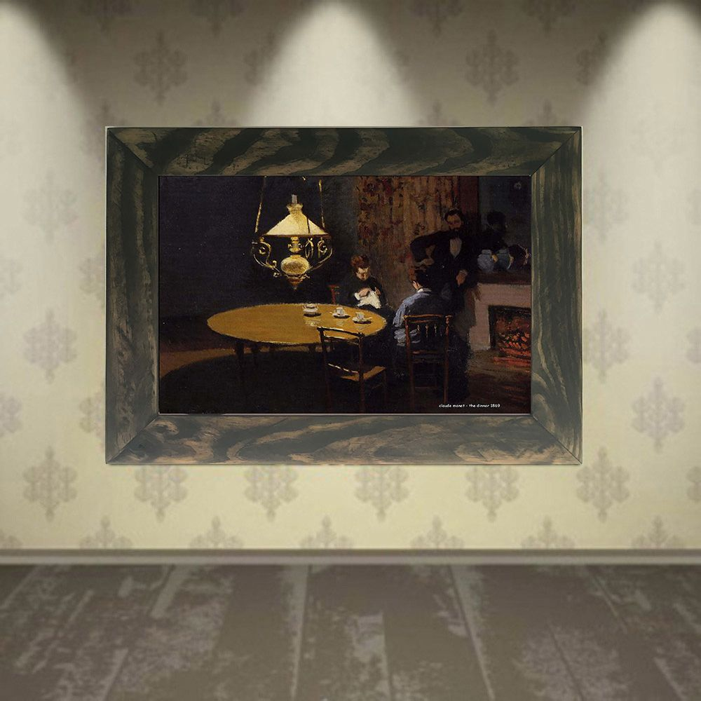 Quadro Decorativo A4 The Dinner 1869 - Claude Monet Cosi Dimora