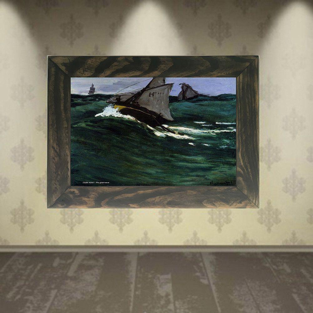 Quadro Decorativo A4 The Green Wave - Claude Monet Cosi Dimora