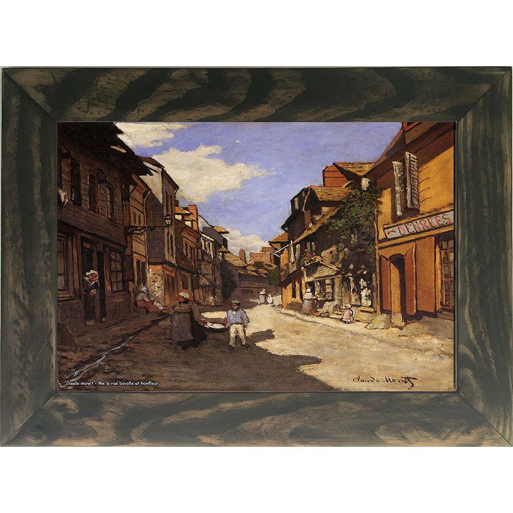 Quadro Decorativo A4 The La Rue Bavolle at Honfleur 2 - Claude Monet Cosi Dimora