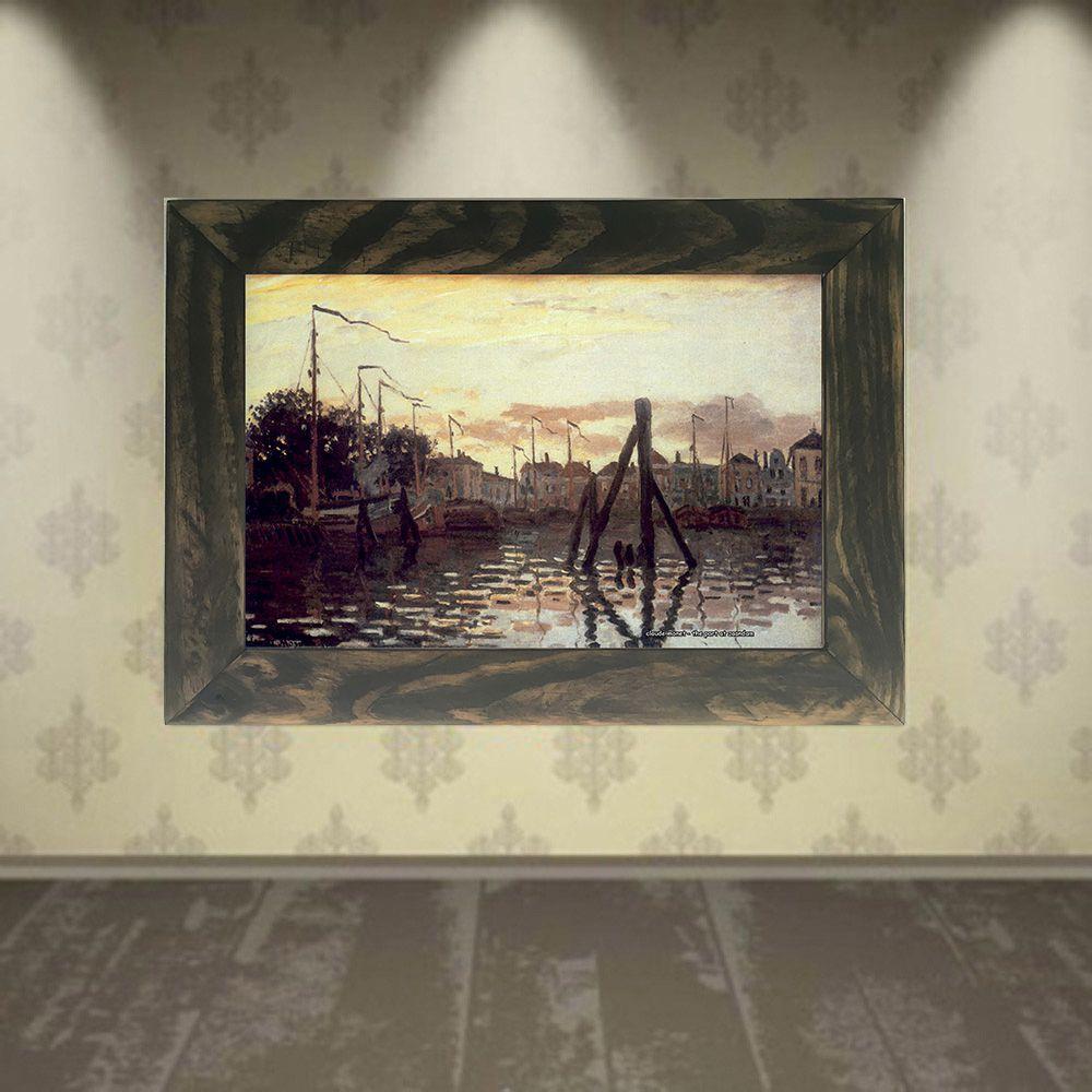 Quadro Decorativo A4 The Port at Zaandam - Claude Monet Cosi Dimora
