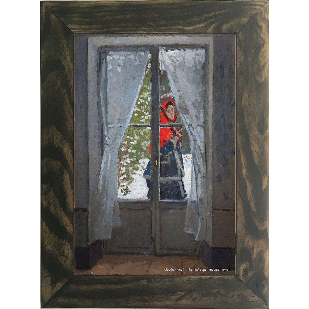 Quadro Decorativo A4 The Red Cape Madame Monet - Claude Monet Cosi Dimora