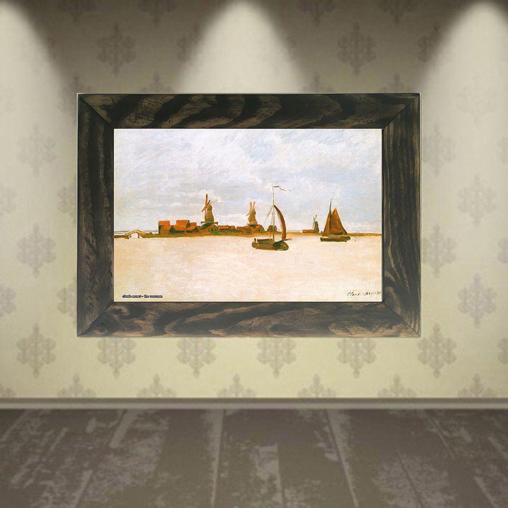 Quadro Decorativo A4 The Voorzaan - Claude Monet Cosi Dimora