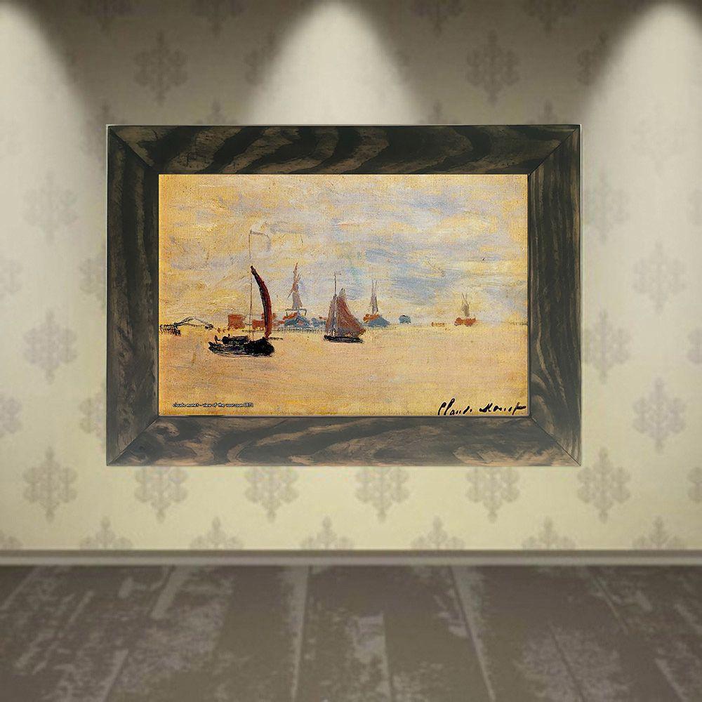 Quadro Decorativo A4 View of the Voorzaan 1871 - Claude Monet Cosi Dimora