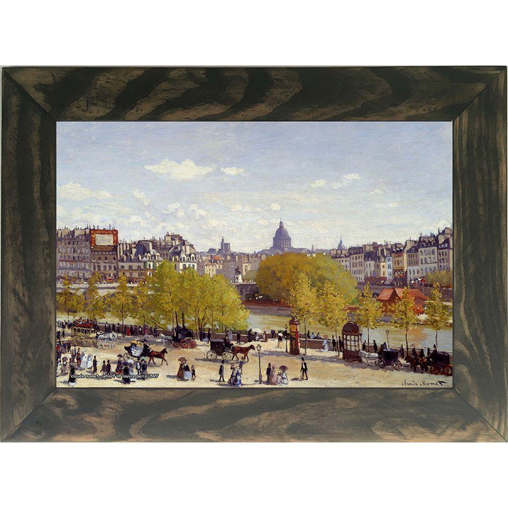 Quadro Decorativo A4 Wharf of Louvre Paris 1867 - Claude Monet Cosi Dimora