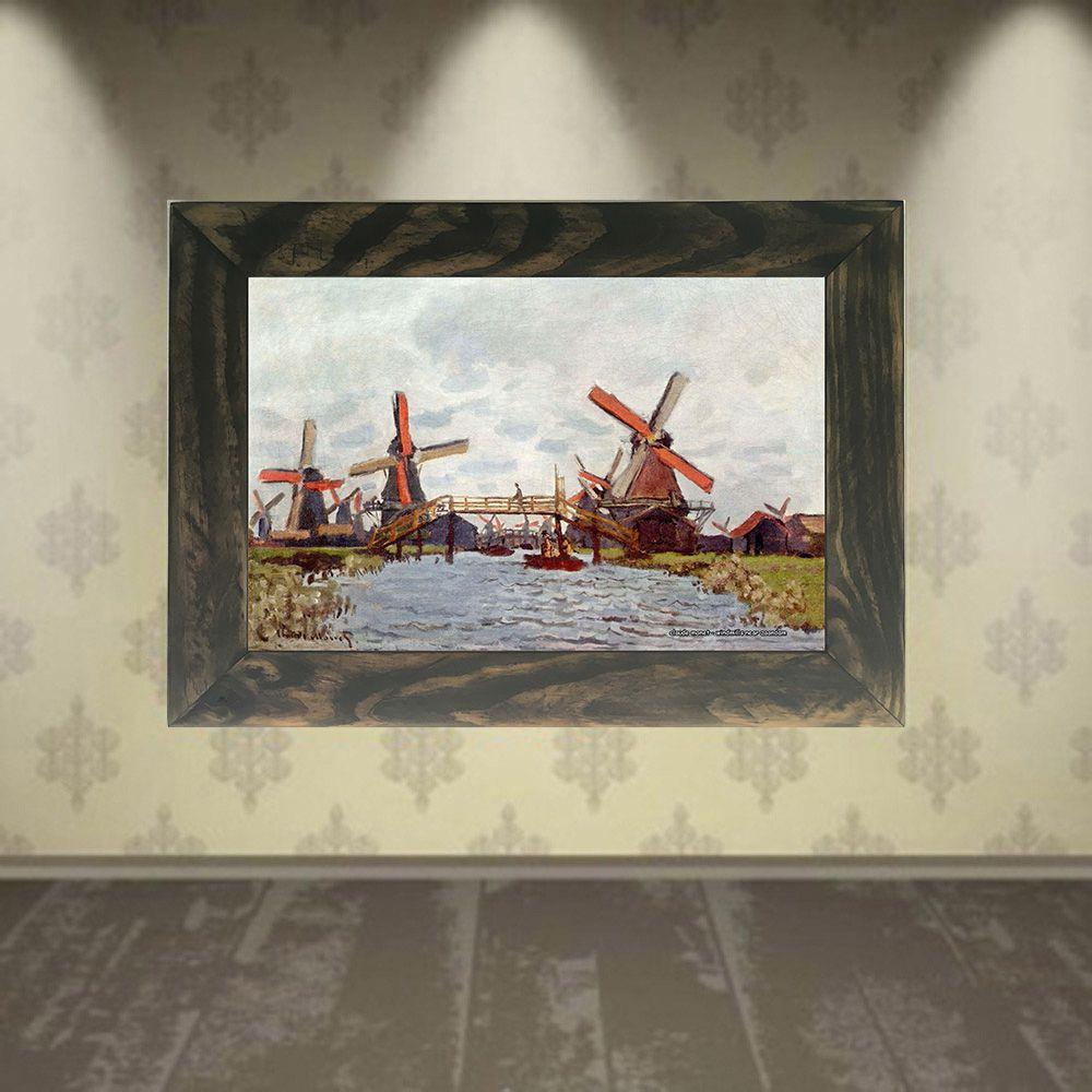 Quadro Decorativo A4 Windmills Near Zaandam - Claude Monet Cosi Dimora