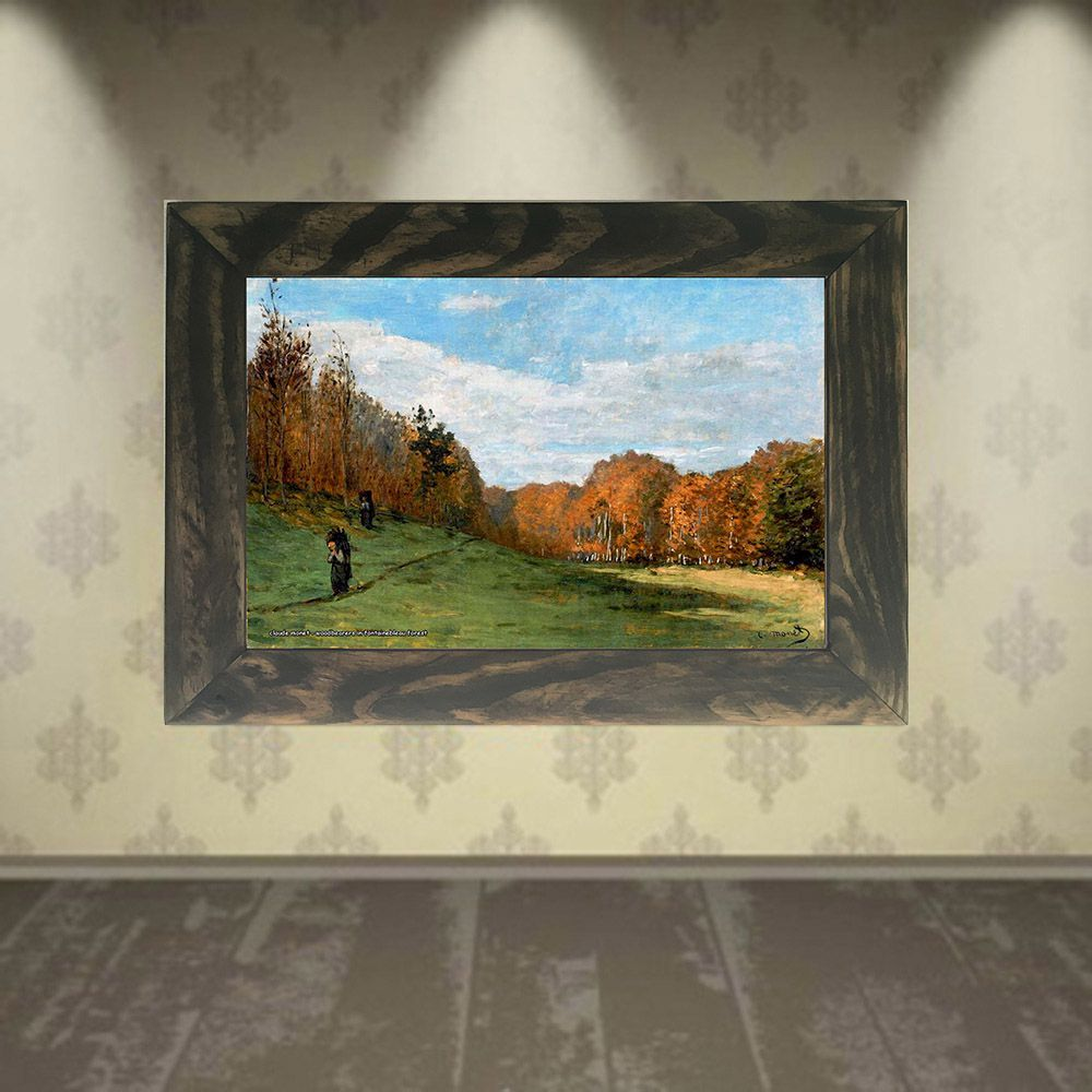Quadro Decorativo A4 Woodbearers in Fontainebleau Forest - Claude Monet Cosi Dimora