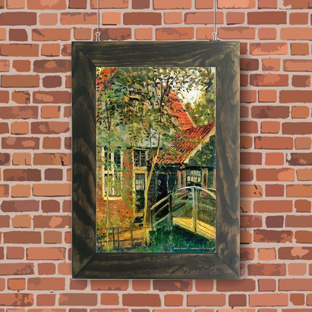 Quadro Decorativo A4 Zaandam Little Bridge - Claude Monet Cosi Dimora