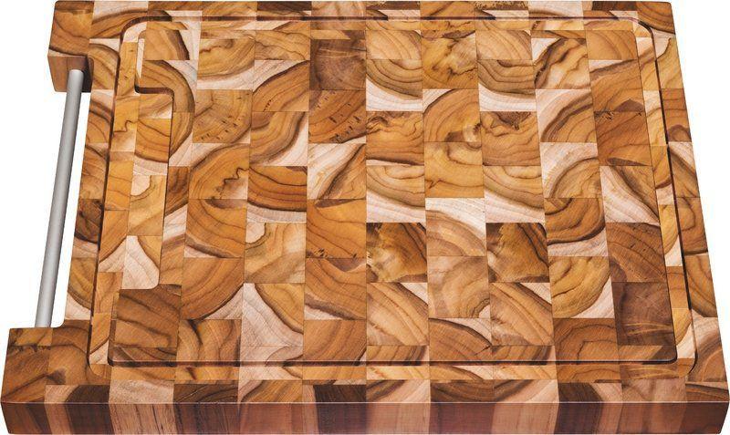 Tábua Retangular Churrasco Madeira Invertida Teca 40x30cm Tramontina