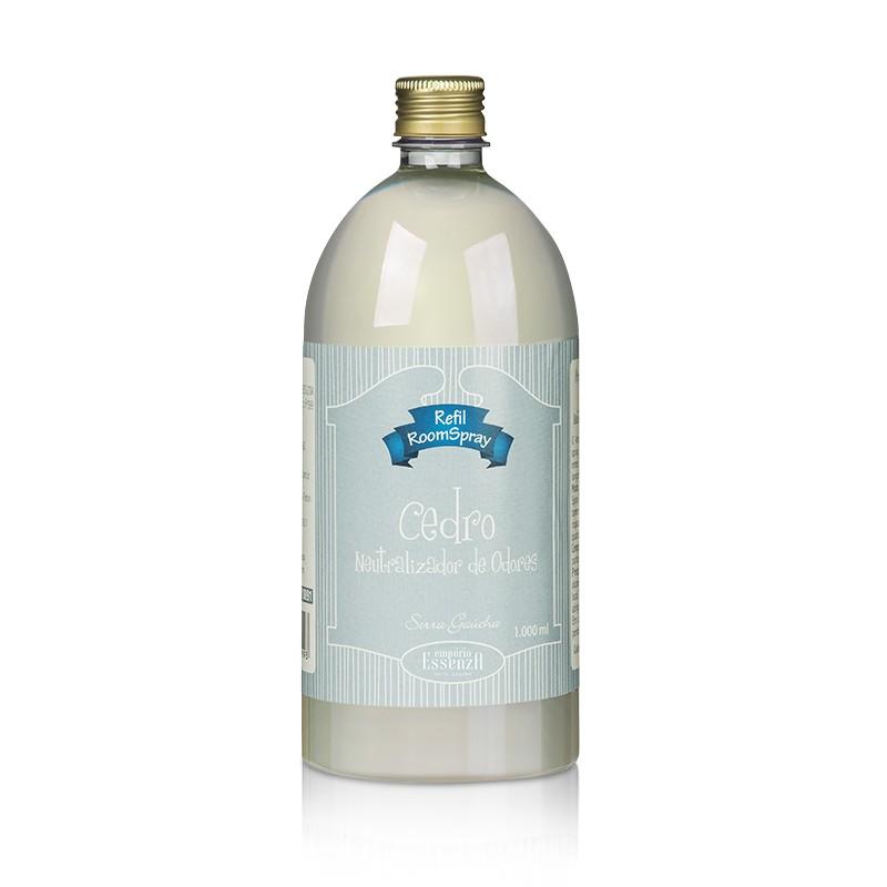 Refil Aromatizador de Ambientes Room Spray Cedro - Neutralizador de Odores 1l