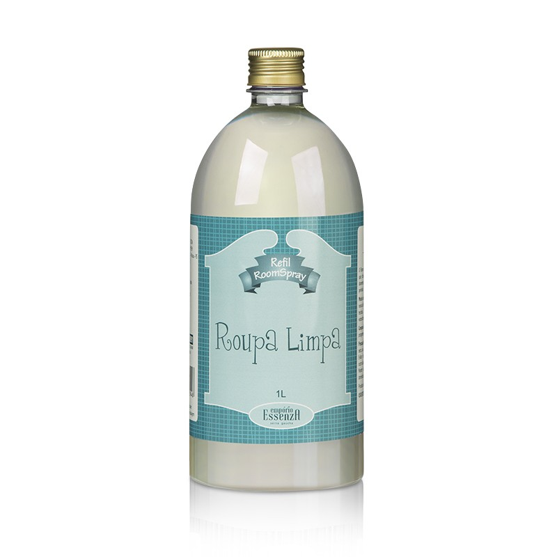Refil Aromatizador de Ambientes Room Spray Roupa Limpa 1l