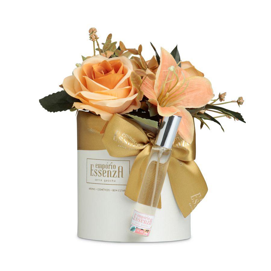 Box Flowers - Dourado