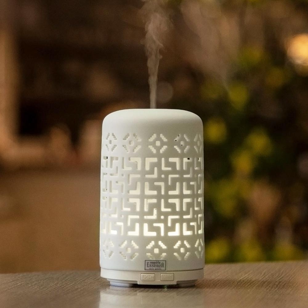 Difusor e umidificador em cerâmica White Arabesco