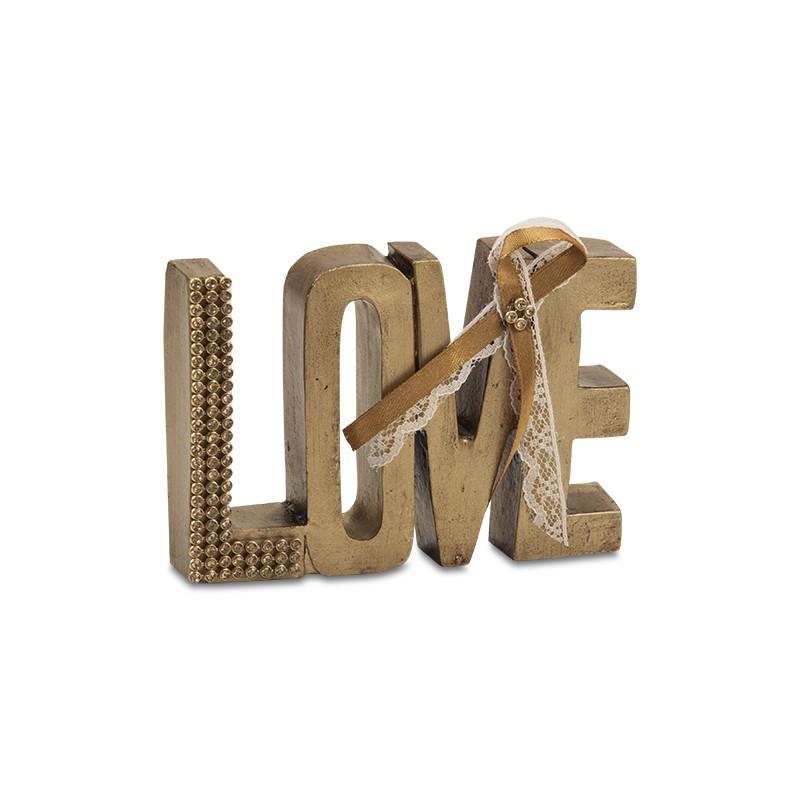 LOVE em resina