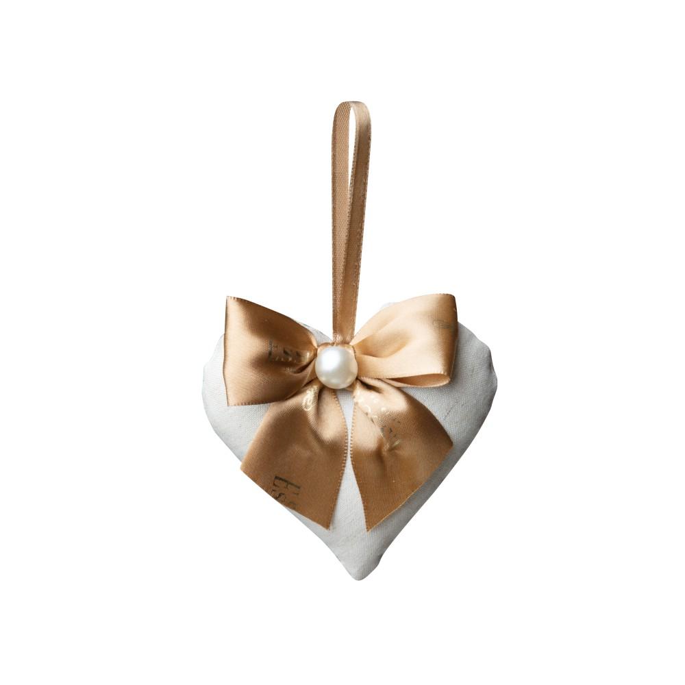 Mini Coração em Tecido 10x11cm
